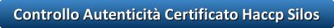 button controllo autenticita certificato haccp silos