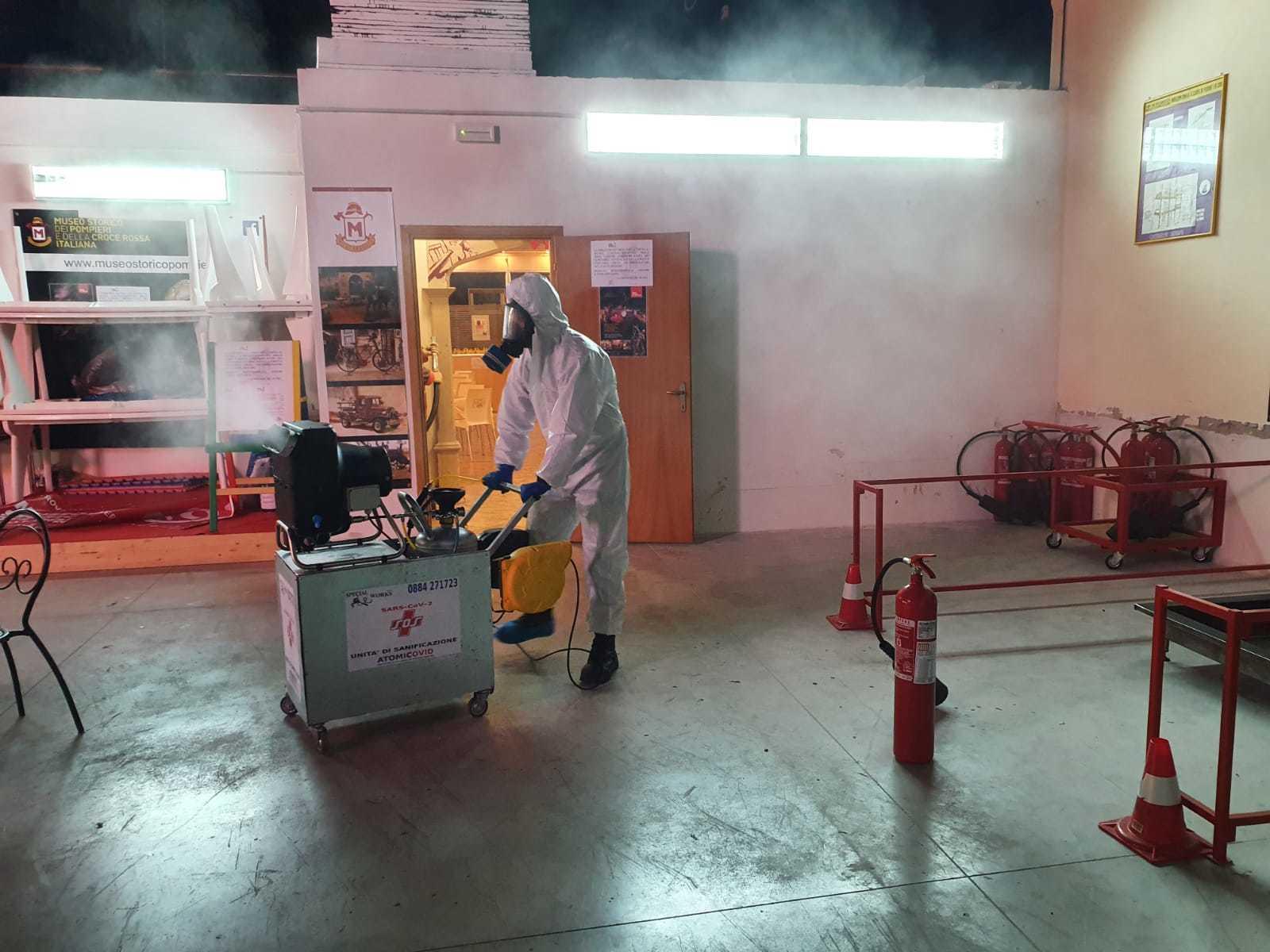 Macchina ATOMICOVID Nebulizzatore Atomizzatore per Sanificazione Covid