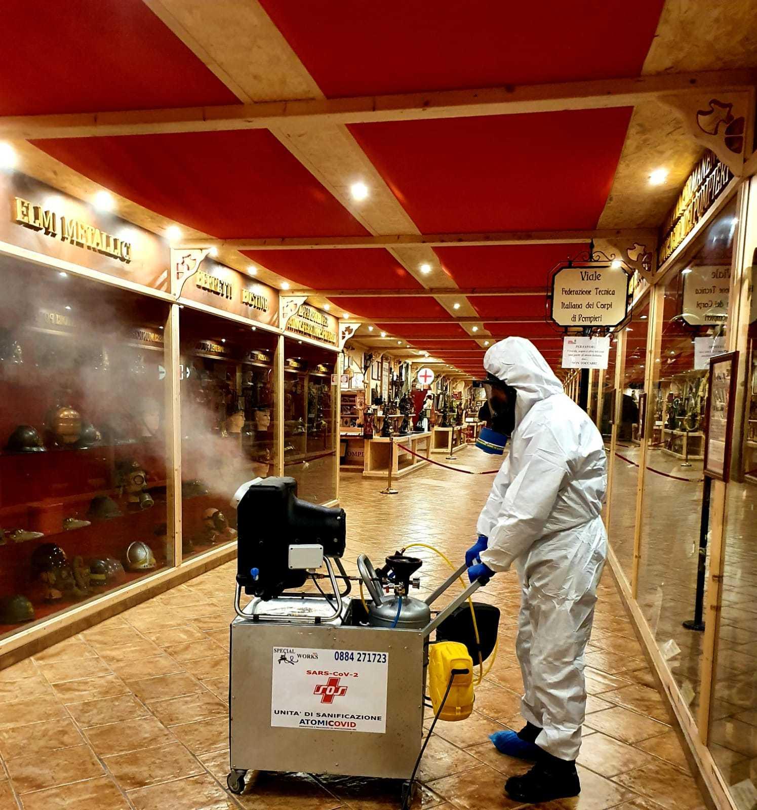 Macchina ATOMICOVID Nebulizzatore Atomizzatore per Sanificazione Covid 2