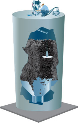Pulizia o Eliminazione Croste dei silos con Frusta Rotante